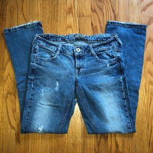 Denim straight leg jeans